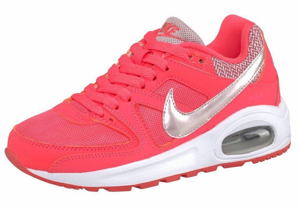 Nike »Air Max Command Flex (GS)« Sneaker in koralle-silberfarben