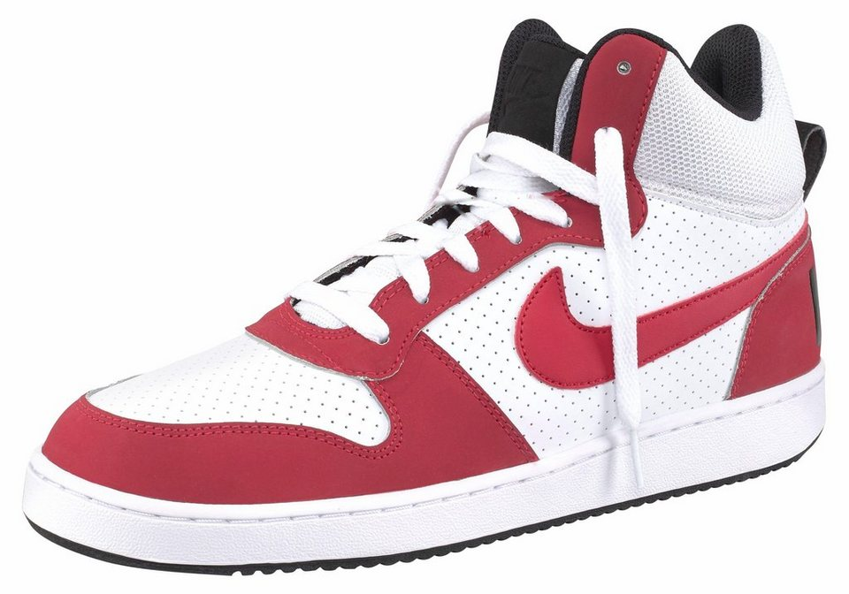 Nike »Court Borough Mid« Sneaker in weiß-rot