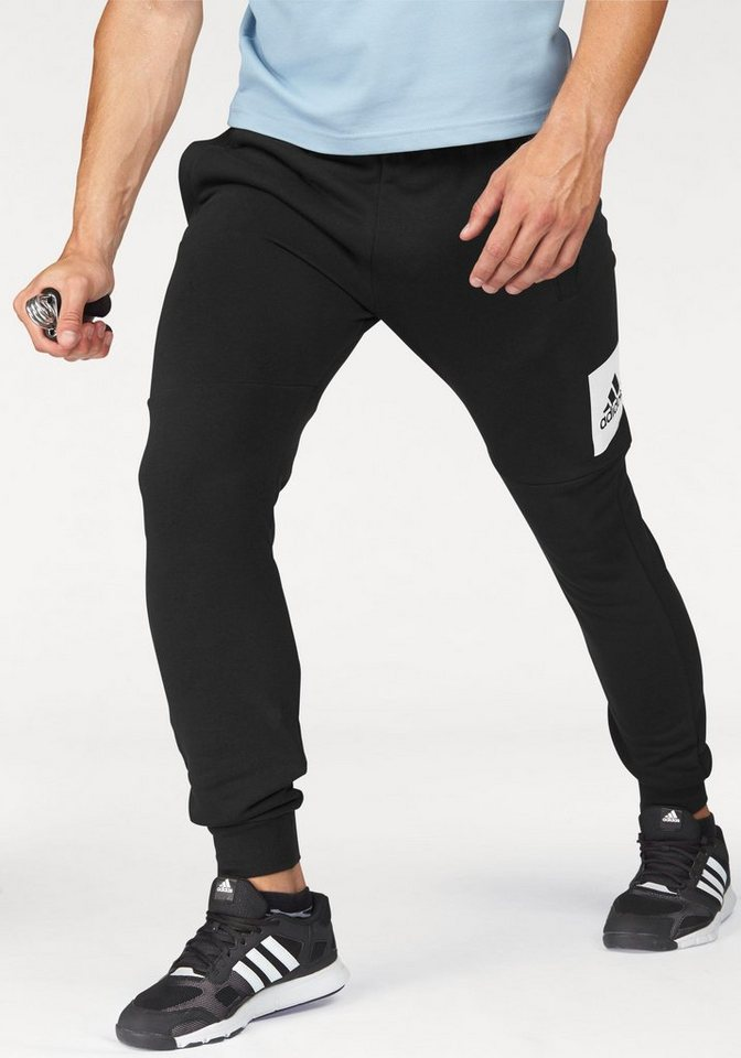 adidas Performance Jogginghose »ESSENTIALS BOX LOGO SLIM TAPERED FRENCH TERRY PANT« in schwarz