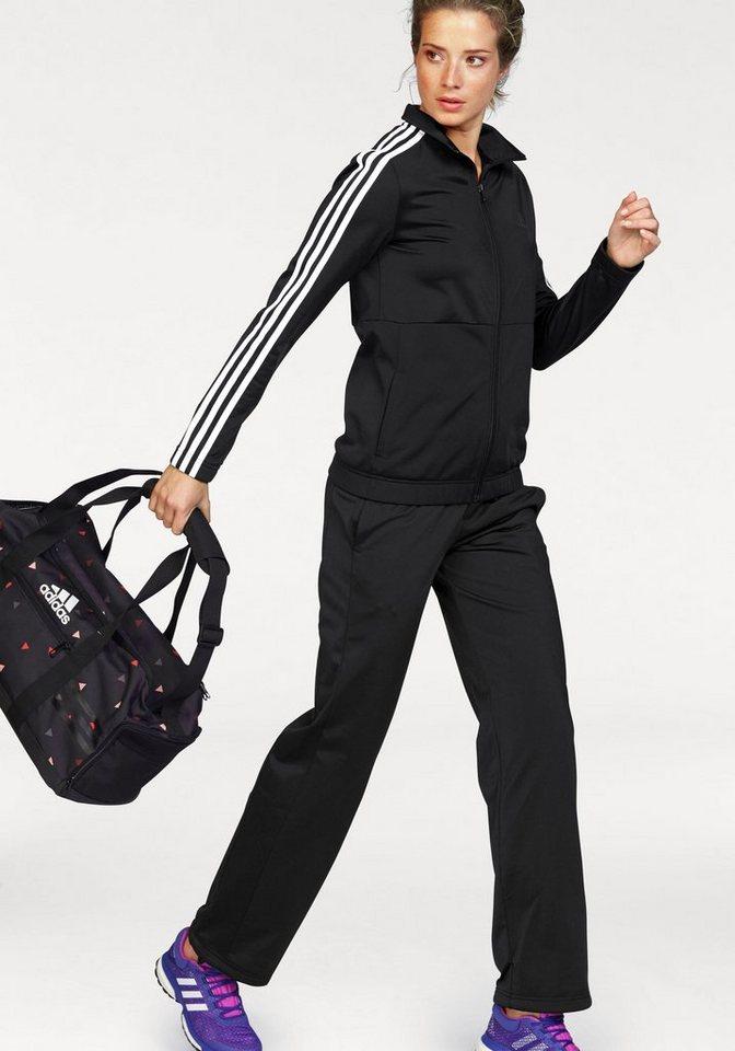 adidas Performance Trainingsanzug »BACK2BASIC 3S TRACKSUIT« in schwarz-weiß