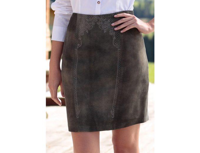 Erscheinungsdaten Spieth & Wensky Trachtenlederrock Damen mit effektvollem Used Look Auslass Niedriger Versand sgvvNZKZ6
