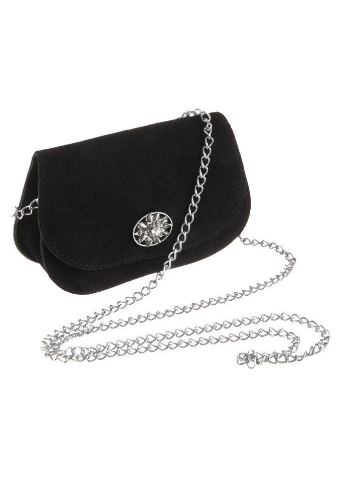KABE Leder-Accessoires Trachtentasche mit Edelweißapplikation