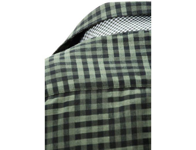 Trachtenhemd Herren mit Kontraststeppung, OS-Trachten