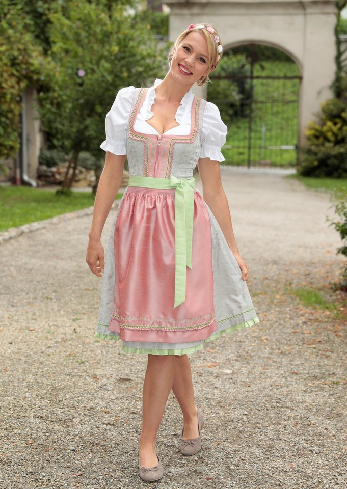 spieth wensky dirndl midi mit effektvollen borten online kaufen otto. Black Bedroom Furniture Sets. Home Design Ideas