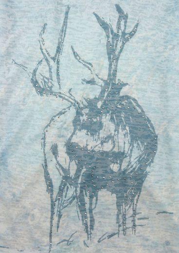 Marjo Trachtenshirt Damen mit Glitzersteinchen