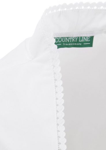 Country Line Dirndlbluse mit Spitzen