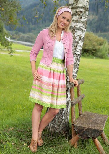 Country Line Trachtenstrickjacke Damen mit Strass verzierten Knöpfen