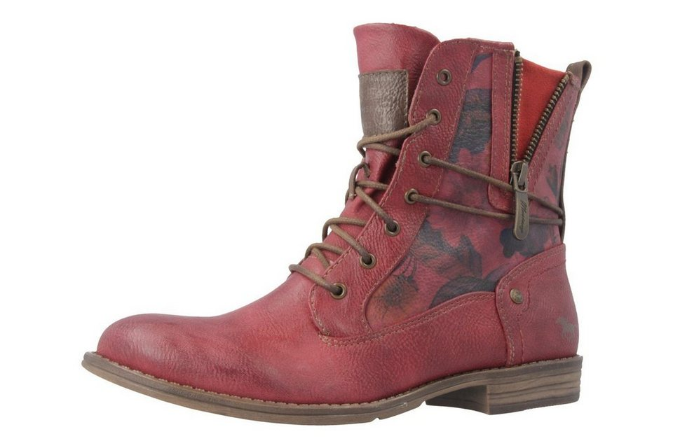 Mustang Boots in Rot