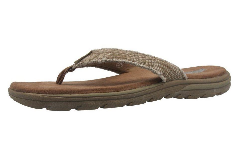 Skechers Zehentrenner in Marron  Tan