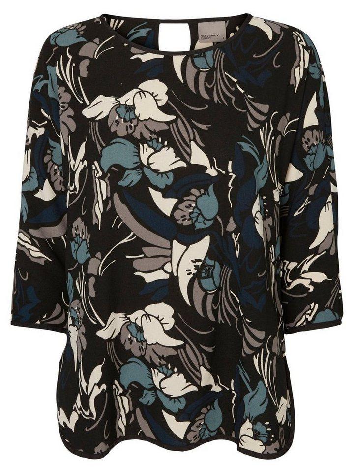 Vero Moda Bedruckte Bluse mit 3/4 Ärmeln in Black 1
