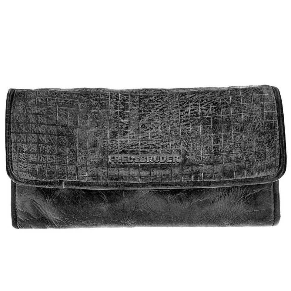 FREDsBRUDER Cut it Vintage Dimly Wallet Geldbörse Leder 20 cm in black