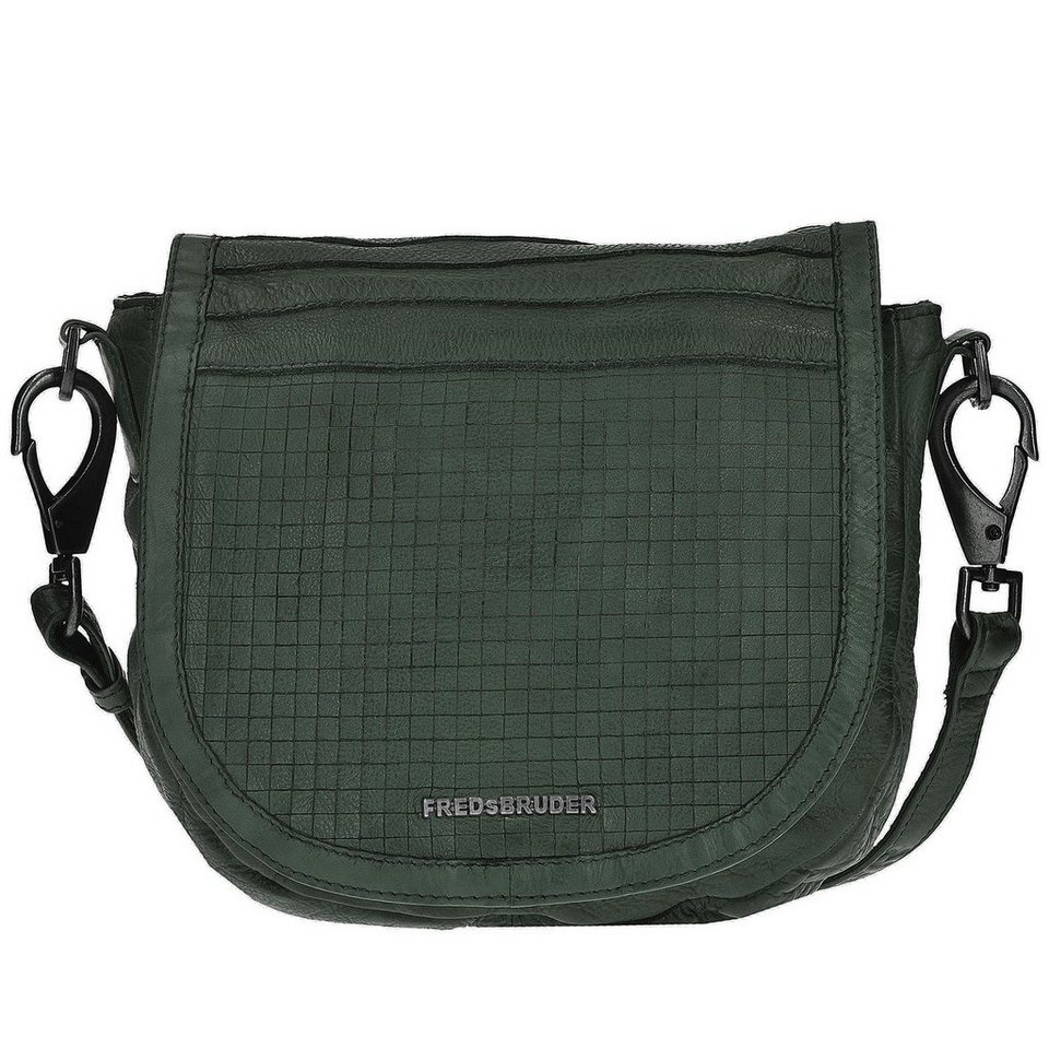 FREDsBRUDER Cut it Vintage Dimension Handtasche Leder 35 cm in olive