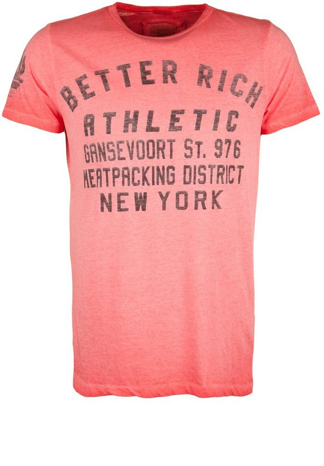 Better Rich T-Shirt »CREW ATHLETIC« in scarlet red