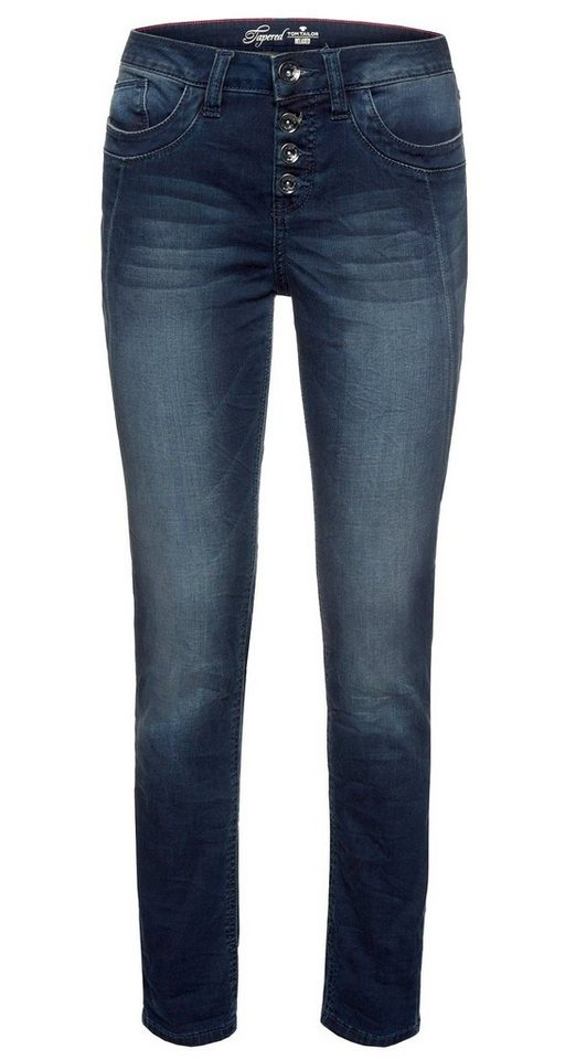 TOM TAILOR Jeans »Jeans mit Waschung« in stone wash denim
