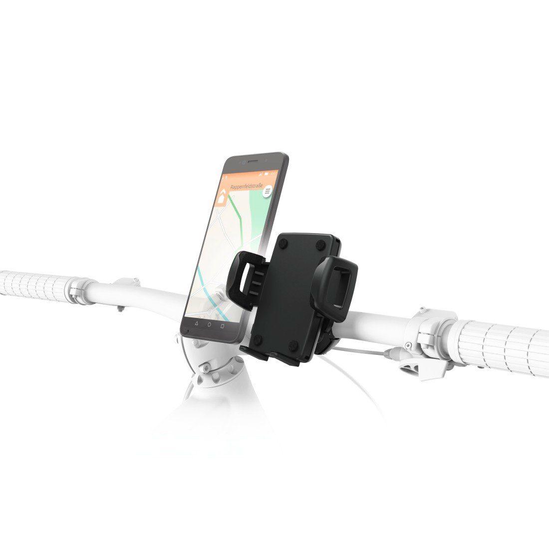 Hama Universal Handy Fahrradhalterung, Lenkstangen Fahrradhalter »Fahrrad/Motorrad/eBike Halter«