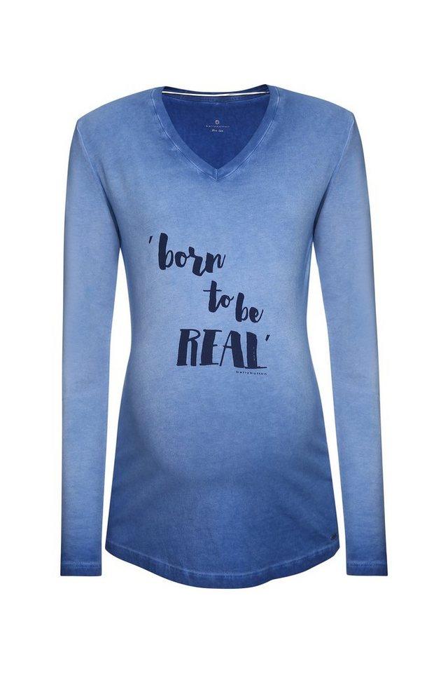 BELLYBUTTON Langarmshirt für Schwangere, mit Print in peacoat