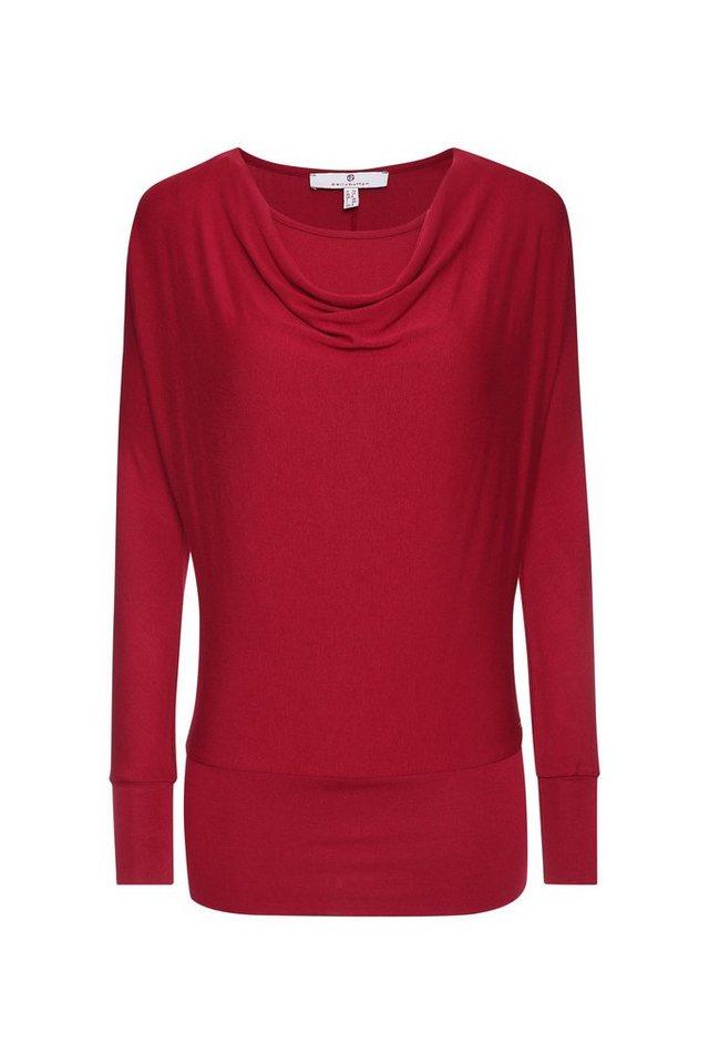 BELLYBUTTON Long Stillshirt, Leggings-Look in rumba red
