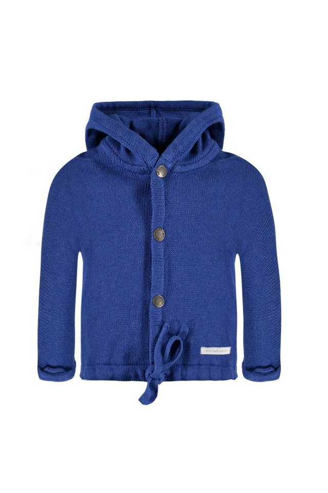 BELLYBUTTON Baby-Strickjacke mit Stern, Kapuze in strong blue