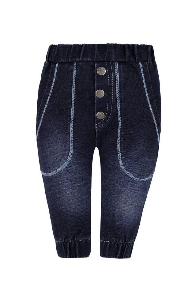 BELLYBUTTON Baby-Jogginghose im Denim Style in dark blue denim