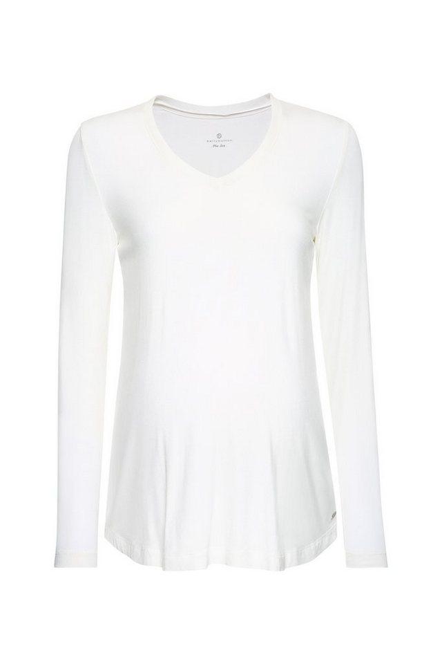 BELLYBUTTON Umstandsshirt langer Arm, Materialmix in blanc de blanc