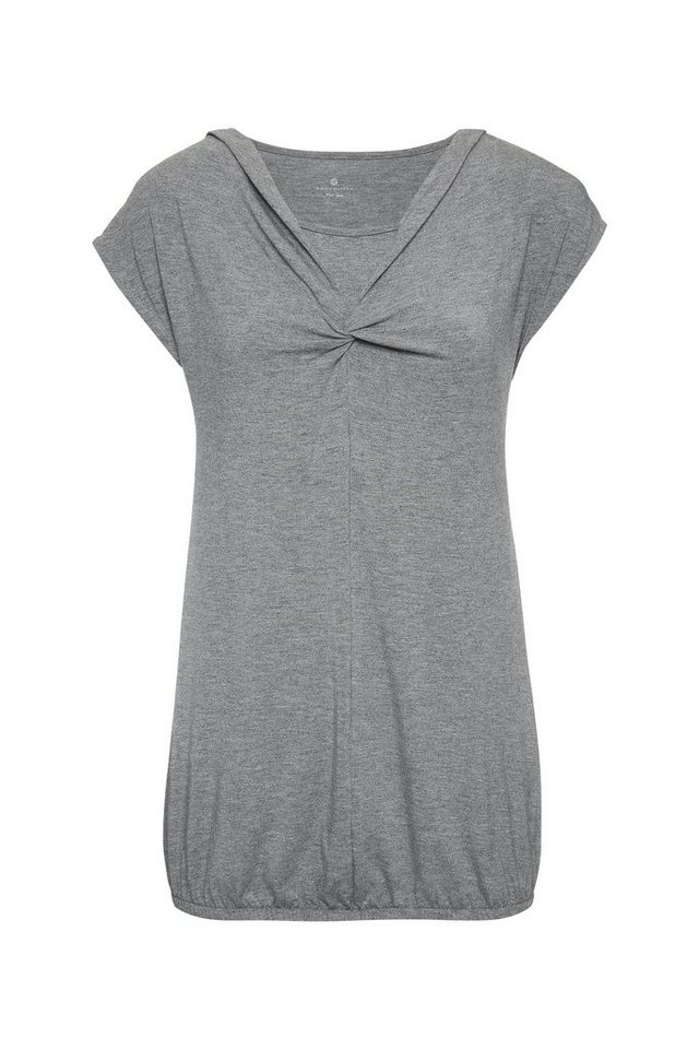 BELLYBUTTON Stillshirt Nedda mit Wickeldetail in middle gray melange