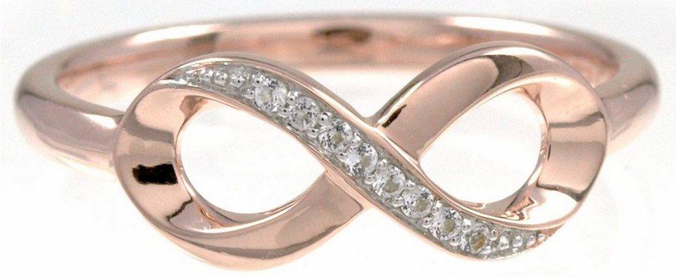 CAÏ Fingerring »Infinity, sensitive dancer, C1714R/90/93/« mit Topas in Silber 925-roségoldfarben-weiß