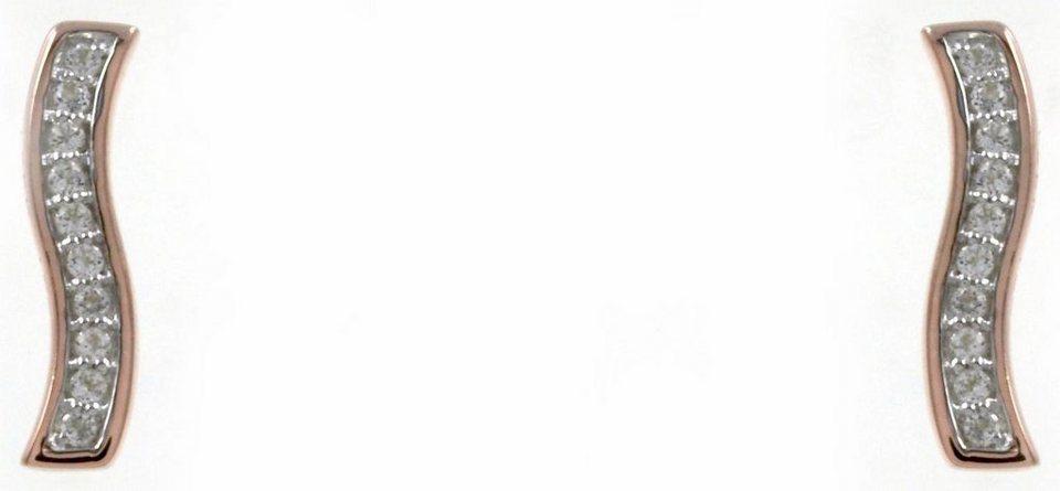 CAÏ Paar Ohrstecker »sensitive dancer, C1720E/90/93/« mit Topas in Silber 925-roségoldfarben-weiß