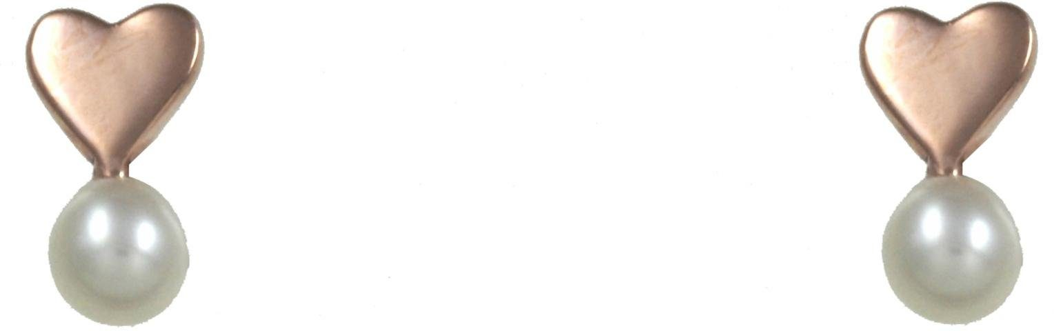 CAÏ Paar Ohrstecker »Herz, Pearl Love, C7146E/90/46/«, mit Süßwasserzuchtperle