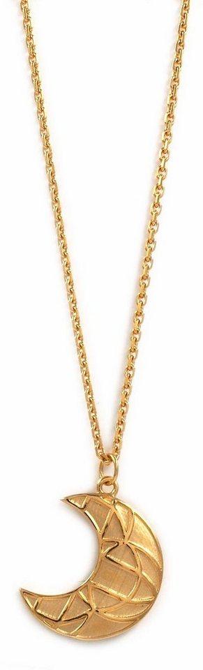 CAÏ Collier »Mond, morocco nights, C1706N/90/00/45« in Silber 925-goldfarben