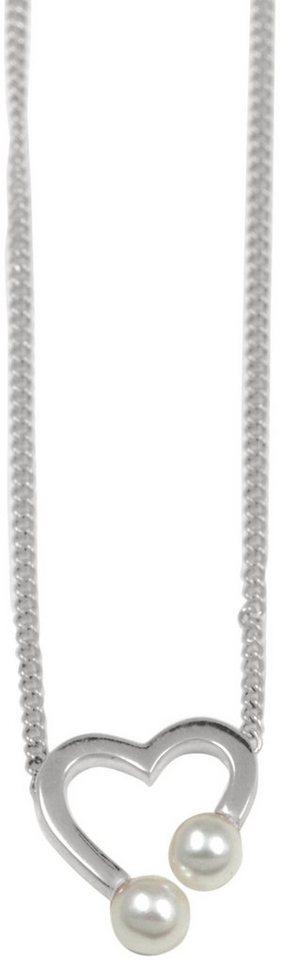 CAÏ Kette ohne Anhänger »Herz, Pearl Love, C7163N/90/46/39+5« mit Süßwasserzuchtperlen in Silber 925-weiß