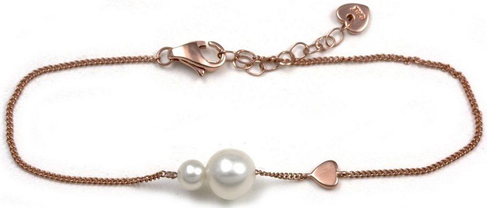 CAÏ Armband »Pearl Love, C7164B/90/46/16+3« mit Süßwasserzuchtperle in Silber 925-roségoldfarben-weiß