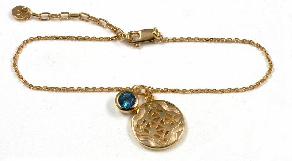 CAÏ Armband »morocco nights, C1720N/90/93/45« mit Blautopas in Silber 925-goldfarben-blau