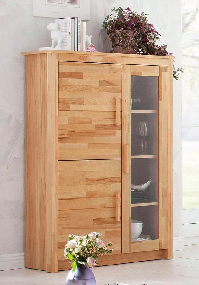 highboard buche massiv home affaire preisvergleiche erfahrungsberichte und kauf bei nextag. Black Bedroom Furniture Sets. Home Design Ideas