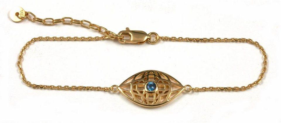 CAÏ Armband »morocco nights, C1705B/90/25/20« mit Blautopas in Silber 925-goldfarben-blau