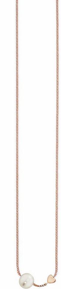 CAÏ Kette ohne Anhänger »Pearl Love, C7158N/90/46/39+5« mit Süßwasserzuchtperle in Silber 925-roségoldfarben-weiß