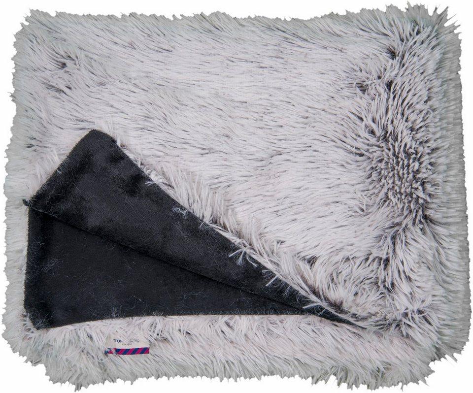 Wohndecke, Tom Tailor, »Fluffy«, mit Kuscheloberfläche in hellgrau-anthrazit