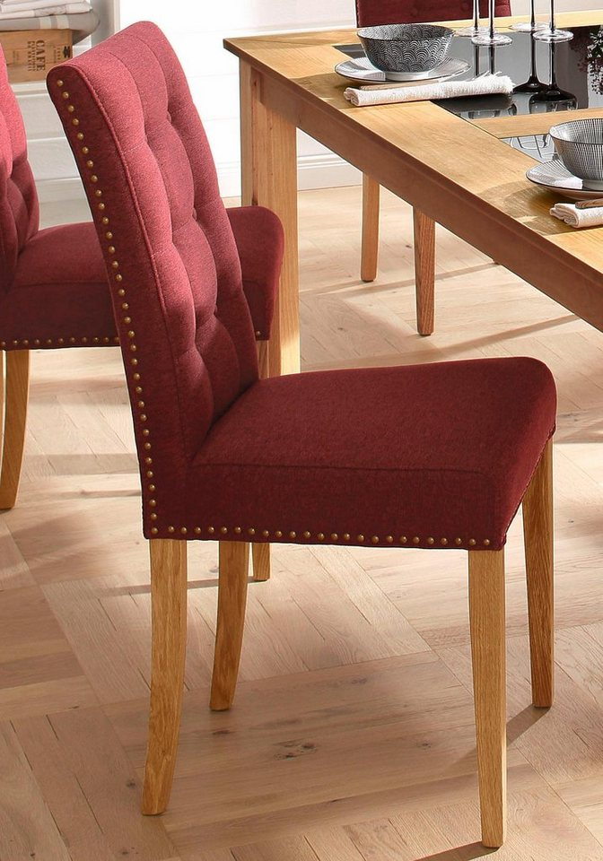 Stuhl, Premium collection by Home affaire, »Gabi« (2, 4 oder 6 Stck.) in bordeaux
