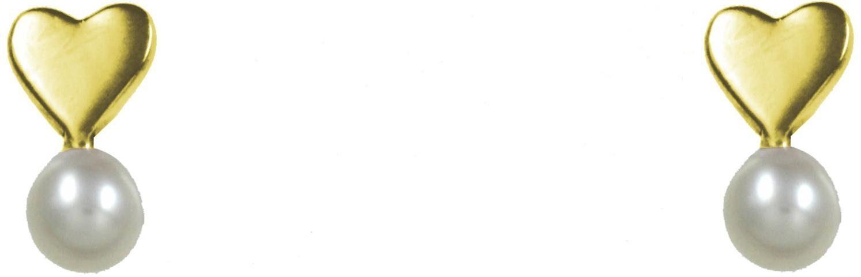 CAÏ Paar Ohrstecker »Herz, Pearl Love, C7147E/90/46/«, mit Süßwasserzuchtperle