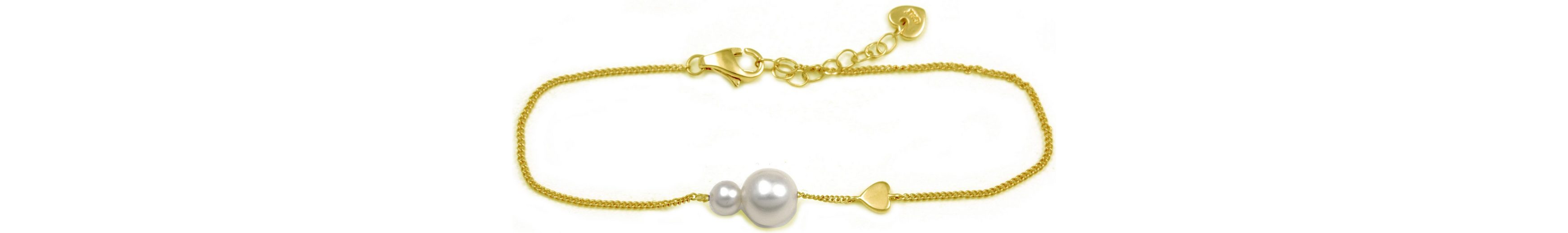 CAÏ Armband »Pearl Love, C7165B/90/46/16+3« mit Süßwasserzuchtperle