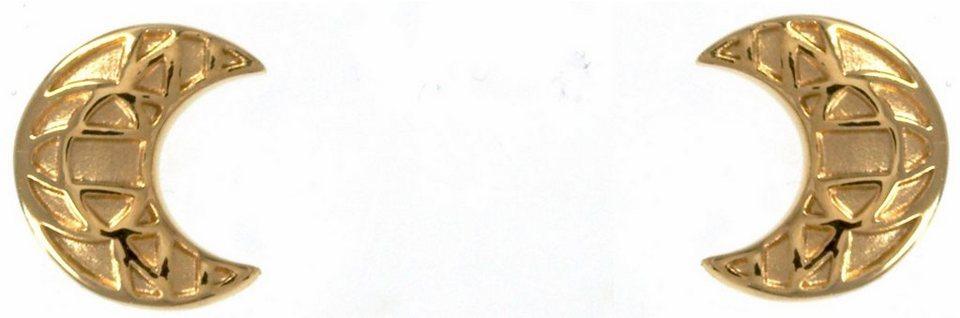 CAÏ Paar Ohrstecker »Mond, morocco nights, C1706E/90/00/« in Silber 925-goldfarben