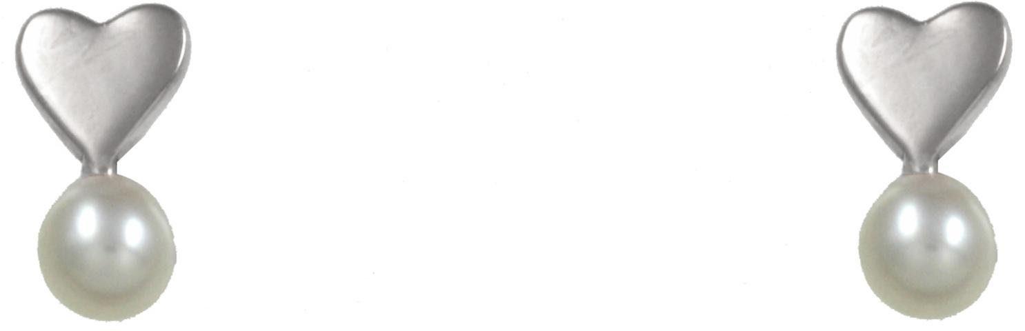 CAÏ Paar Ohrstecker »Herz, Pearl Love, C7148E/90/46/«, mit Süßwasserzuchtperle
