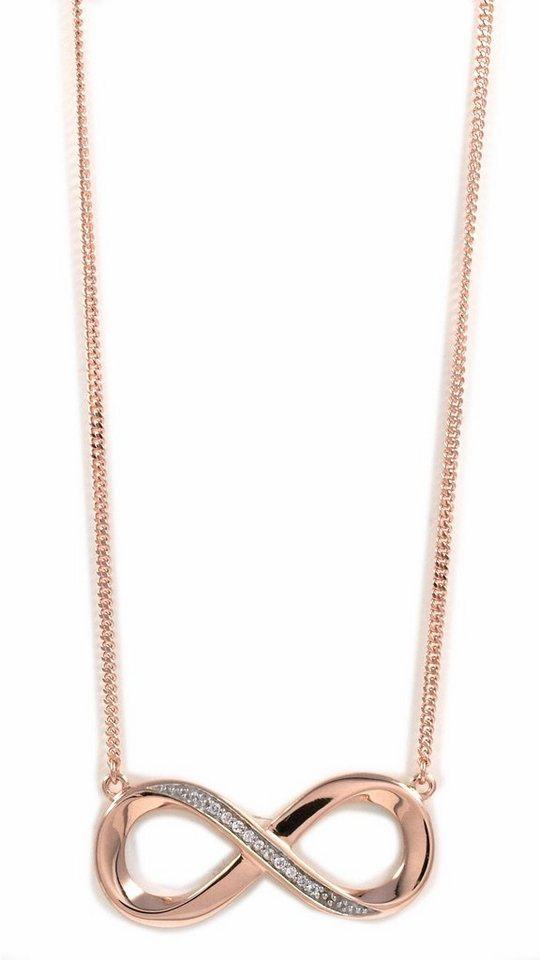 CAÏ Collier »Infinity/Unendlichkeit, sensitive dancer, C1714N/90/93/45« mit Topas in Silber 925-roségoldfarben