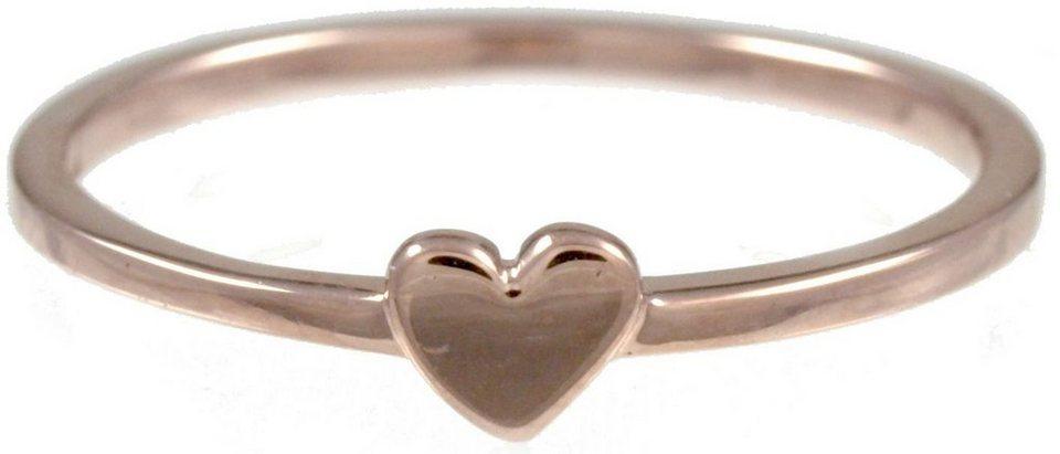 CAÏ Fingerring »Herz, Pearl Love, C7149R/90/00/« in Silber 925-roségoldfarben