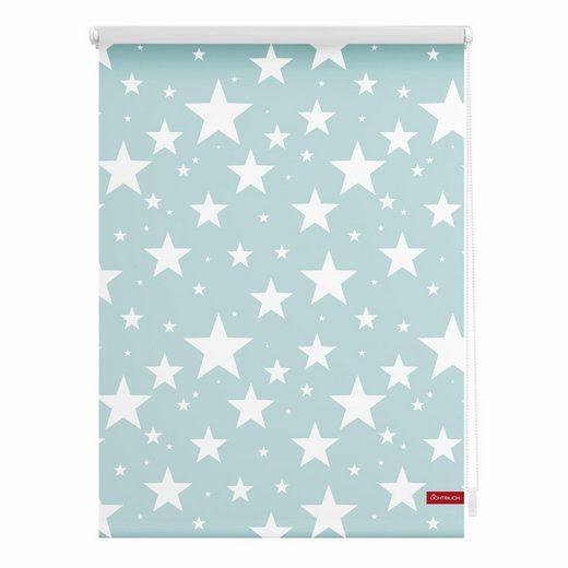 Seitenzugrollo »Klemmfix Motiv Sterne«, LICHTBLICK, Lichtschutz, ohne Bohren, freihängend, bedruckt