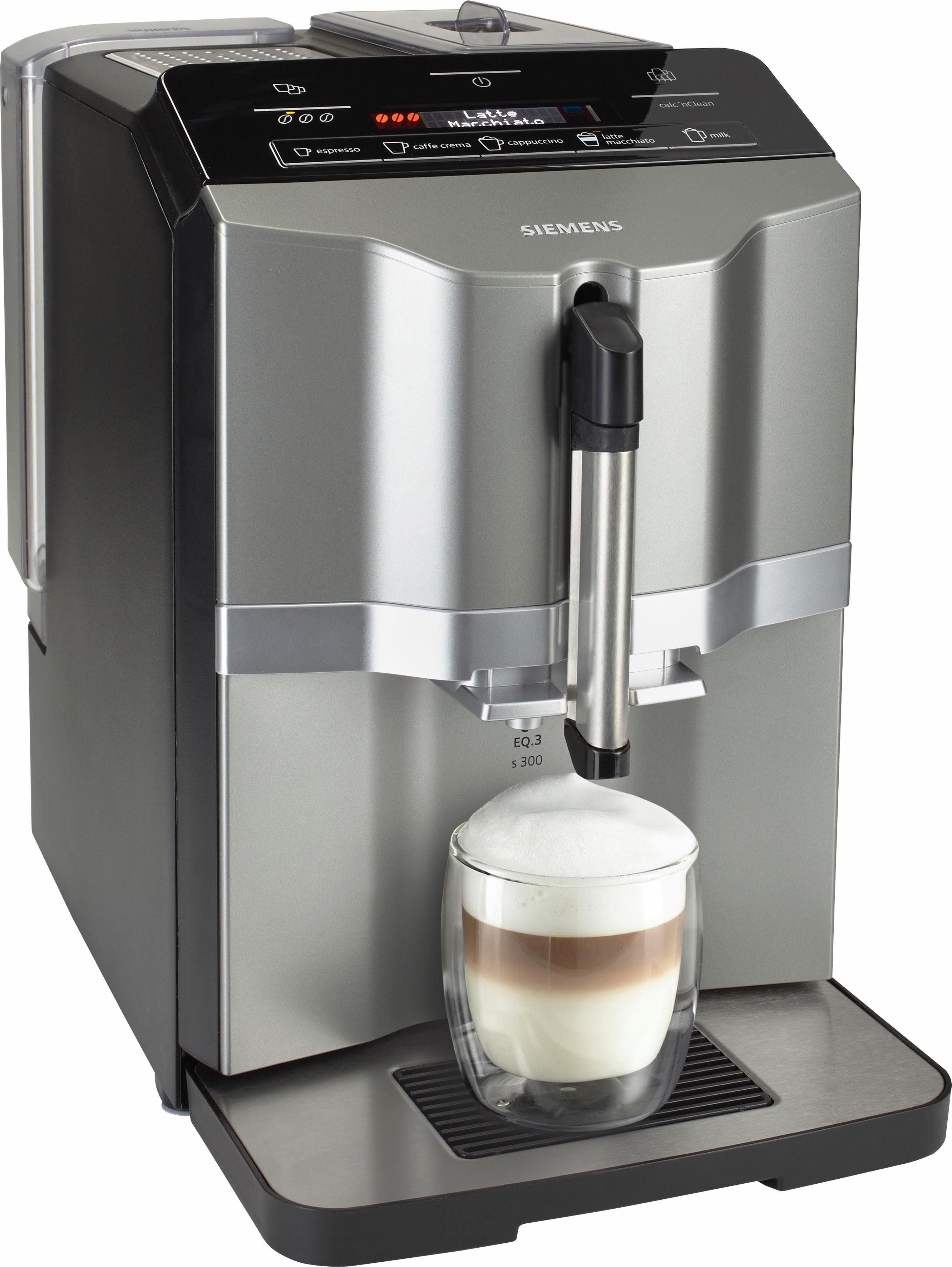 SIEMENS Kaffeevollautomat EQ.3 s300 TI303503DE, schnelle Aufheizzeit