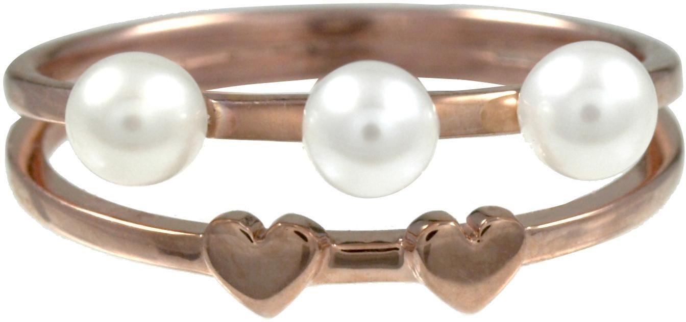 CAÏ Perlenring »Herz, Pearl Love, C7155R/90/46« mit Süßwasserzuchtperlen   Schmuck > Ringe > Perlenringe   Weiß   CAÏ