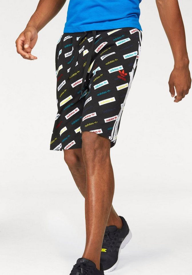 adidas Originals Shorts »TRF AOP SHORTS« in schwarz