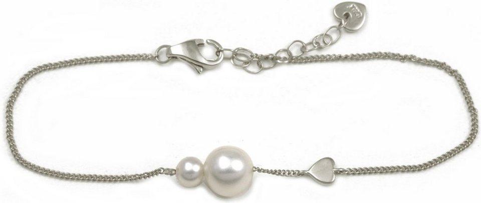 CAÏ Armband »Pearl Love, C7166B/90/46/16+3« mit Süßwasserzuchtperle in Silber 925-weiß