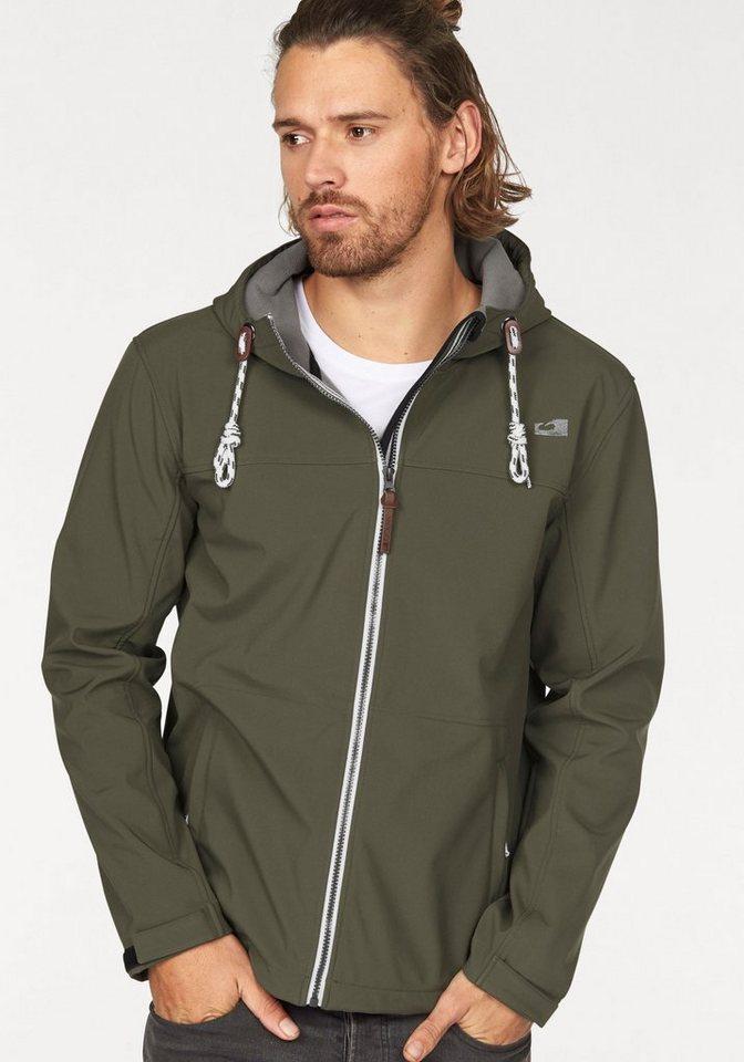 Ocean Sportswear Softshelljacke Wassersäule 3000mm; atmungsaktiv in khaki