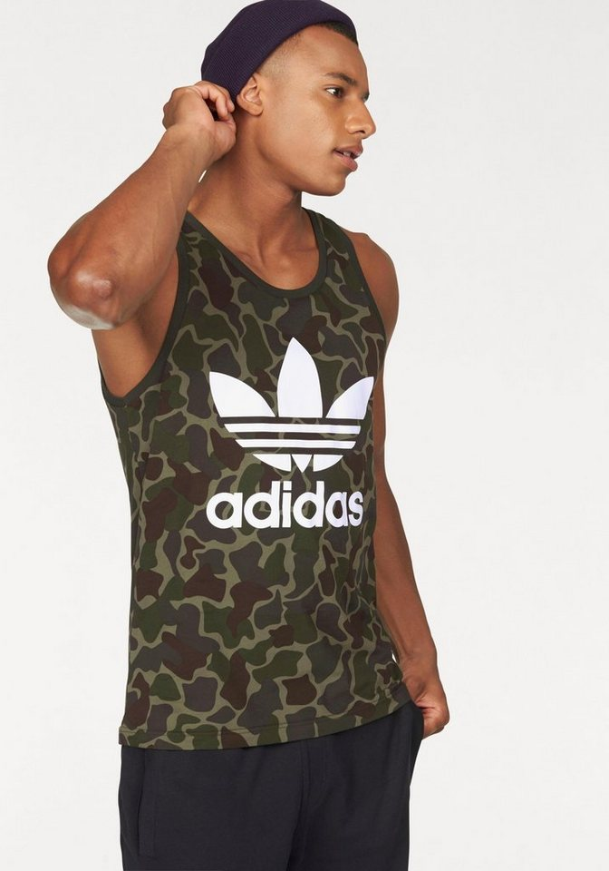 adidas Originals Tanktop »CAMO TANK« in khaki